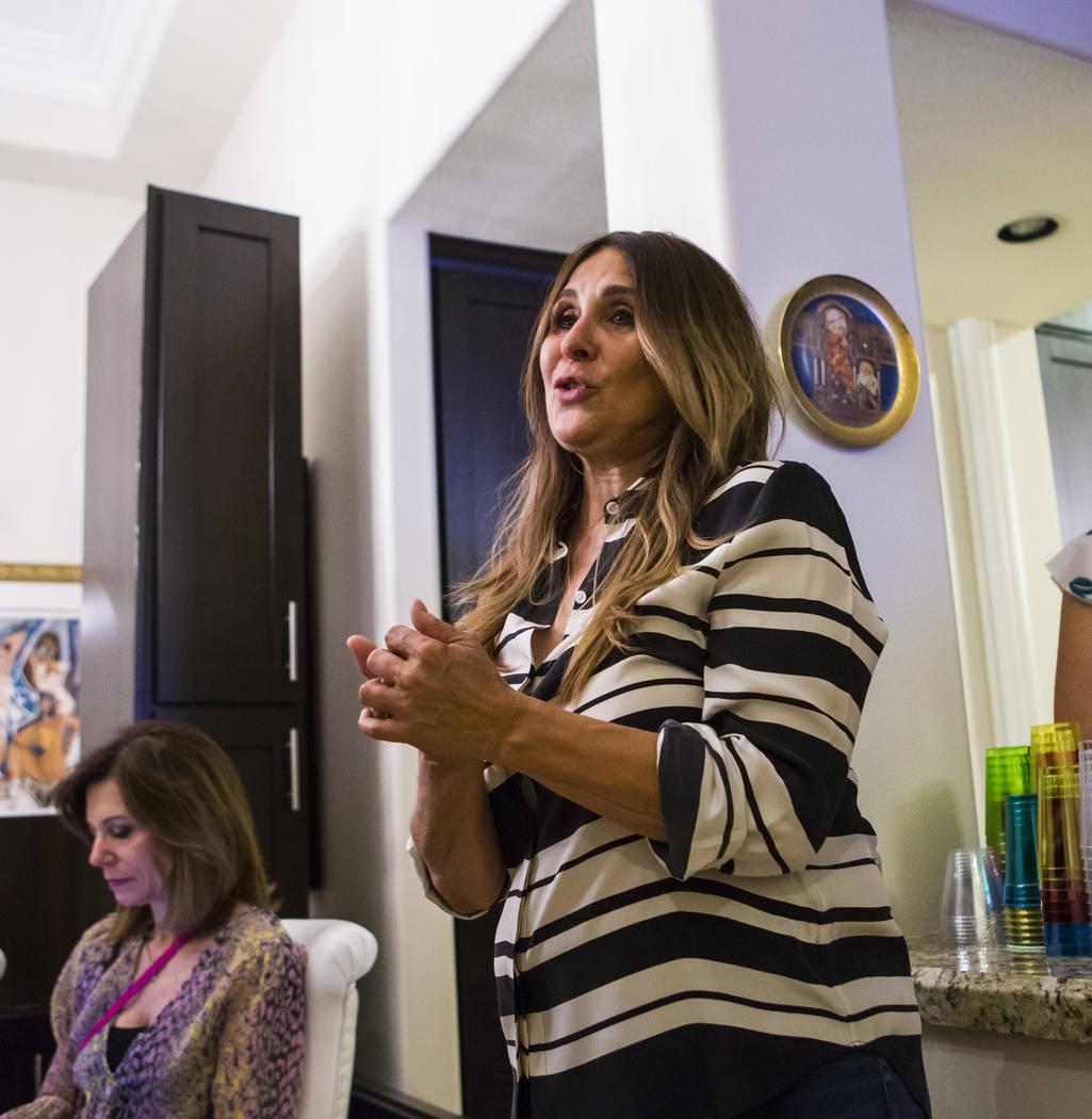 Las Vegas City Council Ward 2 candidate Victoria Seaman, a former Nevada assemblywoman, speaks ...