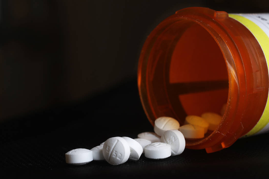 FILE - This Aug. 29, 2018, file photo shows an arrangement of Oxycodone pills in New York. A ne ...