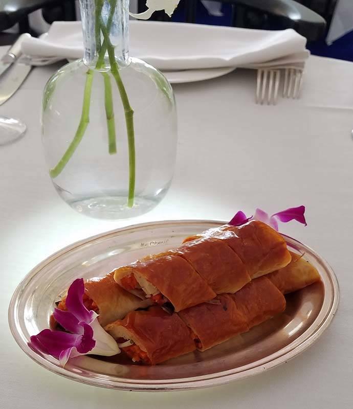 Smoked Bean Curd Roll at Mr. Chow at Caesars Palace. (Heidi Knapp Rinella/Las Vegas Review-Journal)
