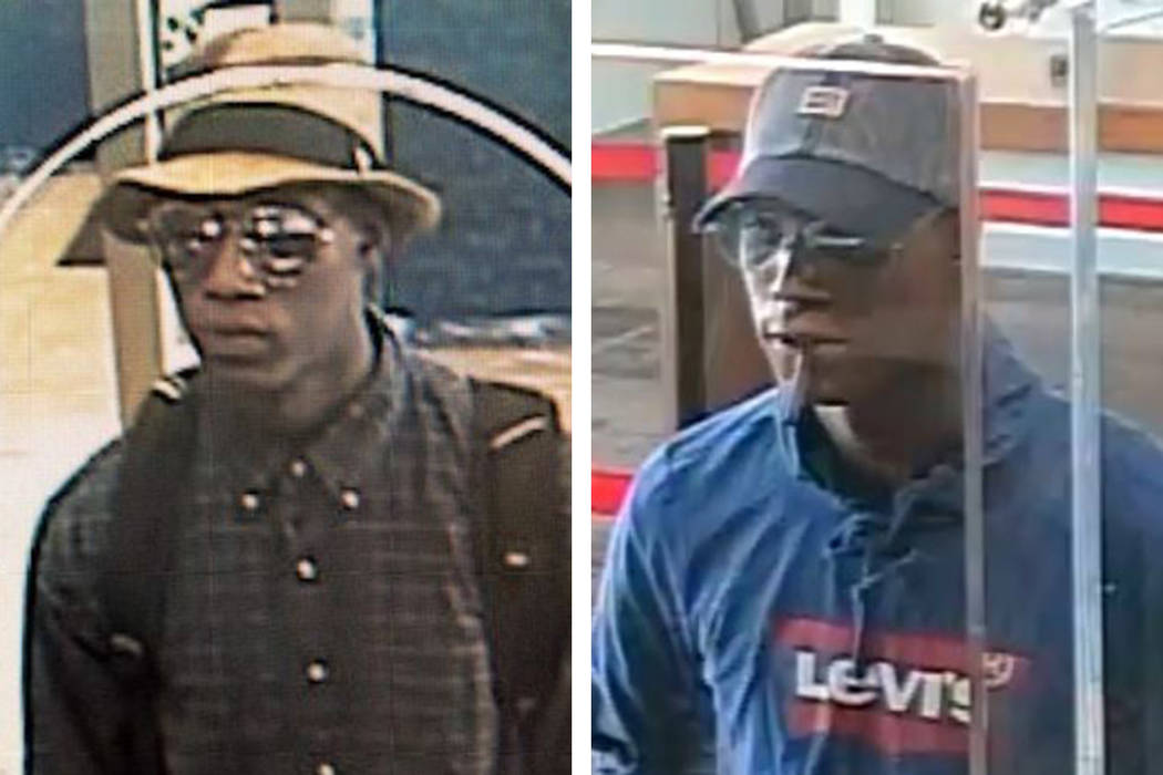 Police are searching for a man suspected in a pair of attempted robberies Monday, June 10, 2019 ...