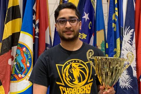 Eshaan Vakil, a junior at Clark High School, took second place at the U.S. History Bee. (Courtesy)