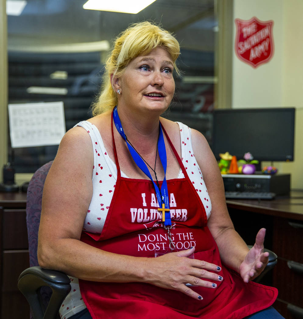 Client/volunteer Ellen Goodrich talks about The Salvation Army which offers a summer day shelte ...