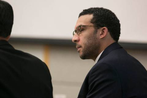 File - In this May 20, 2019, file photo, former NFL football player Kellen Winslow Jr. looks at ...