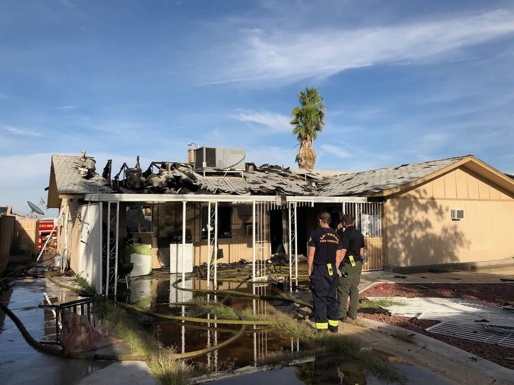 Two adults, three children and two dogs were displaced by a fire Monday, June 10, 2019, near Bu ...
