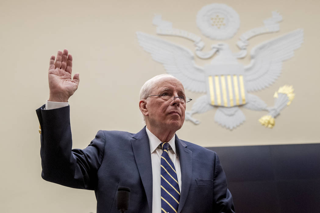 Former White House counsel for the Nixon administration John Dean is sworn in before a House Ju ...