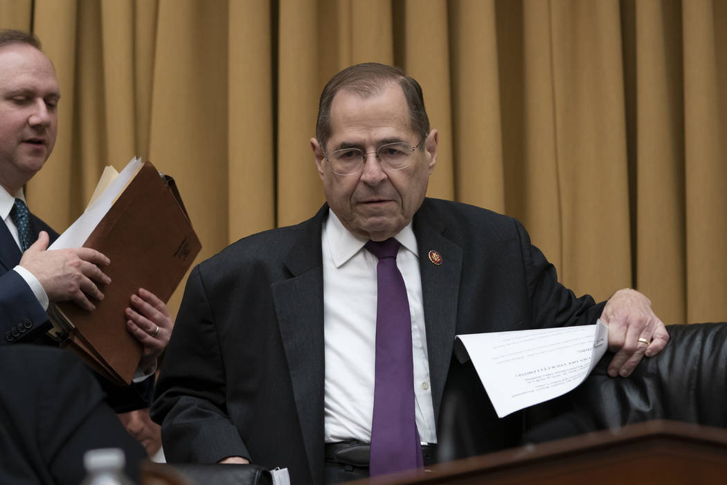 House Judiciary Committee Chairman, Rep. Jerrold Nadler, D-N.Y., prepares to start a hearing to ...