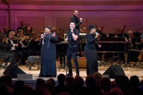 """Frankie Moreno performs with the New York Pops during """"Roll Over Beethoven: A Different Kind of ..."""