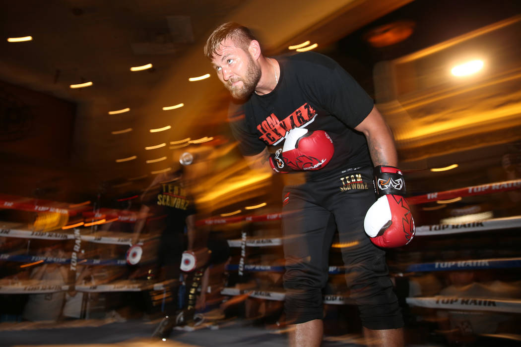 Tom Schwarz during an open workout event at the MGM Grand hotel-casino in Las Vegas, Tuesday, J ...