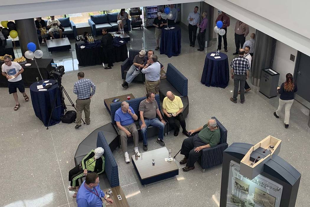 An open house was held Tuesday at the North Las Vegas Airport to show off their recent $2 milli ...