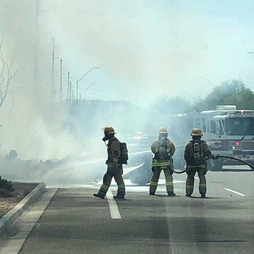 A pilot was critically burned after the crash of a small plane Tuesday, June 11, 2019, in north ...