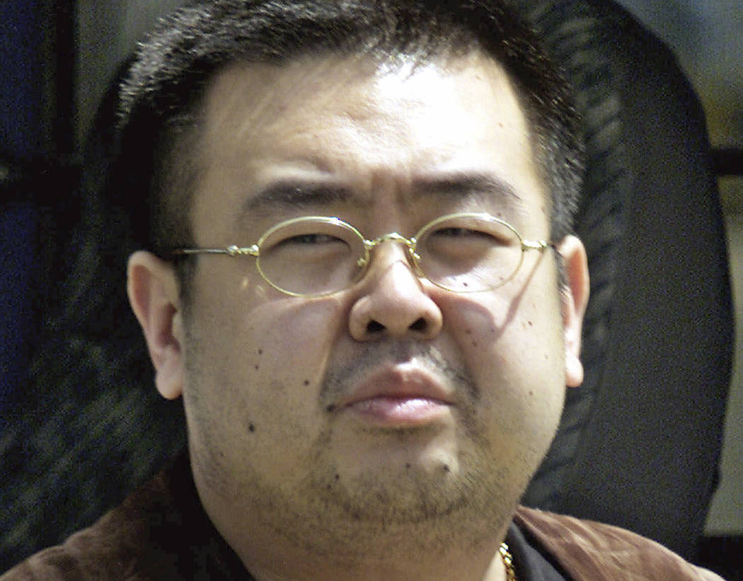 FILE - This May 4, 2001, file photo shows Kim Jong Nam, exiled half brother of North Korea's le ...