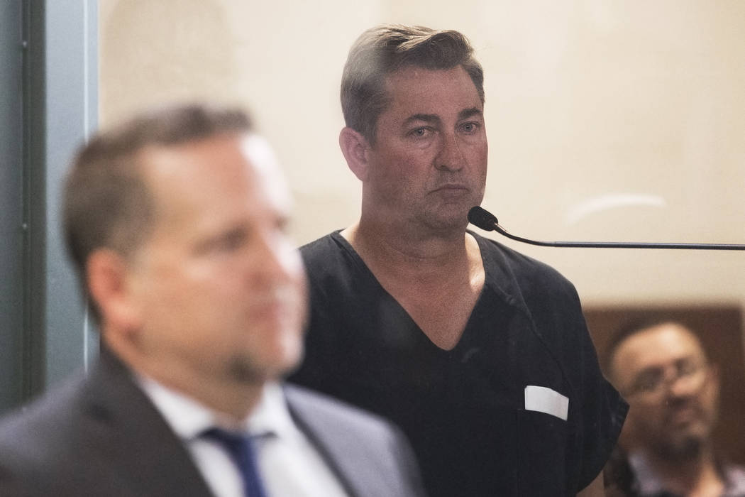 Scott Gragson makes his initial appearance at the Regional Justice Center on Friday, May 31, 20 ...