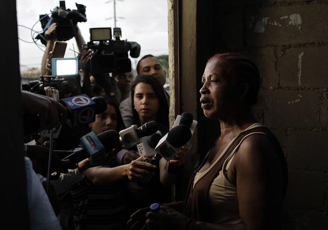 Justina Garcia, the mother of Eddy Vladimir Feliz Garcia, who was taken into custody in connect ...
