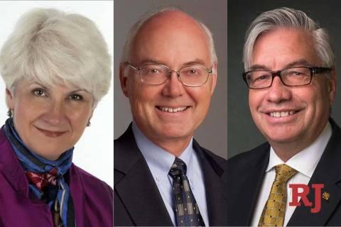 Joyce M. Helens, left, Marc A. Johnson and Bart. J. Patterson (Great Basin College/University o ...