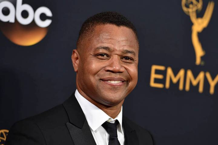 FILE- In this Sept. 18, 2016 file photo, Cuba Gooding Jr. arrives at the 68th Primetime Emmy Aw ...