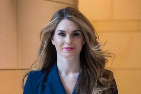 Then-White House Communications Director Hope Hicks arrives to meet behind closed doors with th ...