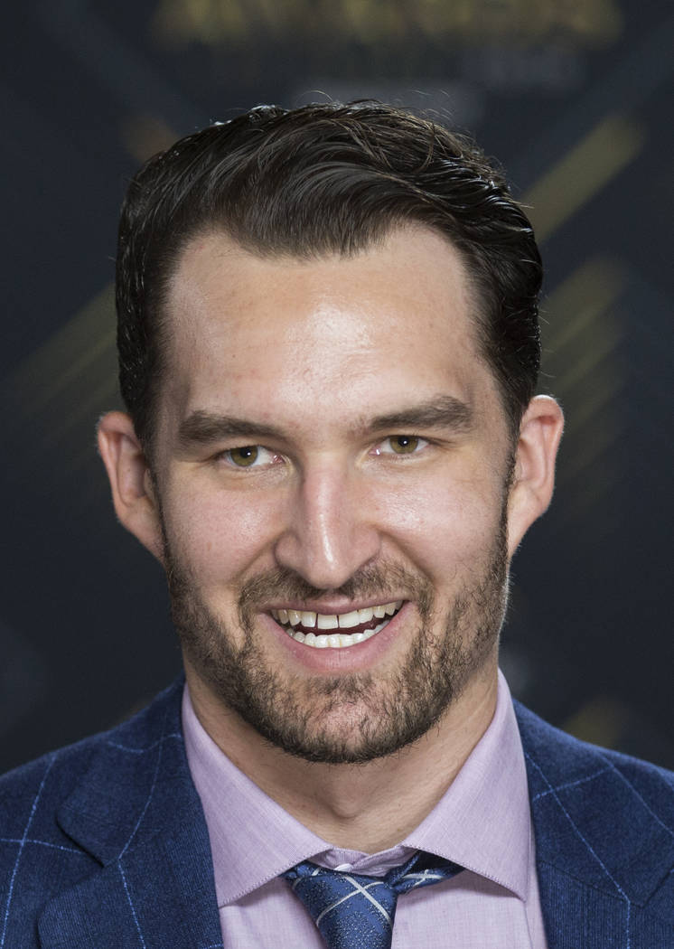 Golden Knights Mark Stone, who is a finalist for the Selke Trophy for best defensive forward, w ...