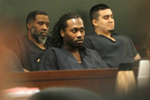 Nicholas Hopkins, center, appears in court for a sentencing hearing at the Regional Justice Cen ...