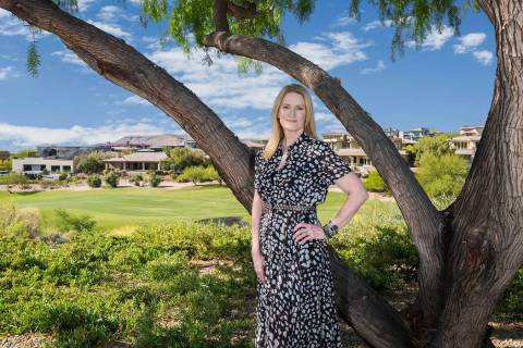 Elle Gaensslen, sales and marketing manager for Summerlin who oversees custom homesite sales in ...