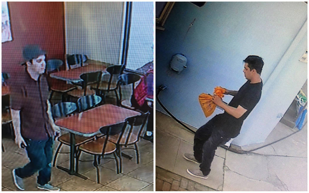 This combination of Monday, June 10, 2019 photos taken by a surveillance camera and provided by ...