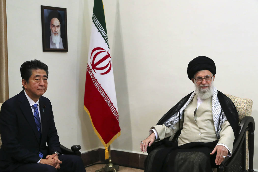 In this picture released by an official website of the office of the Iranian supreme leader, Su ...