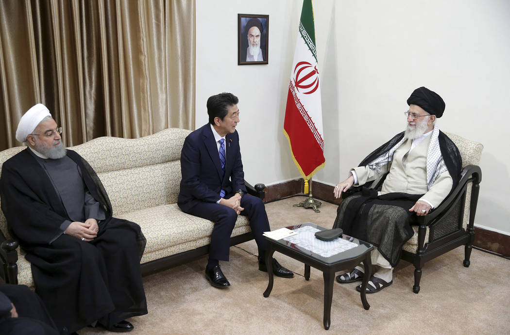 In this picture released by the official website of the office of the Iranian supreme leader, S ...