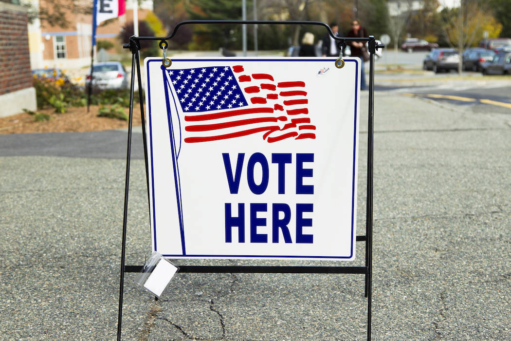 An election polling place station during a United States election. (Getty Images)