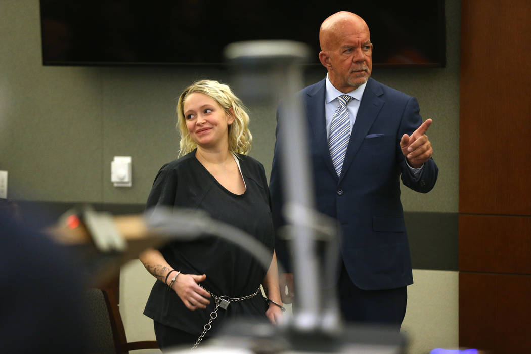 Kelsey Turner, left, with her attorney Brian Smith, appears for her court hearing where she ple ...