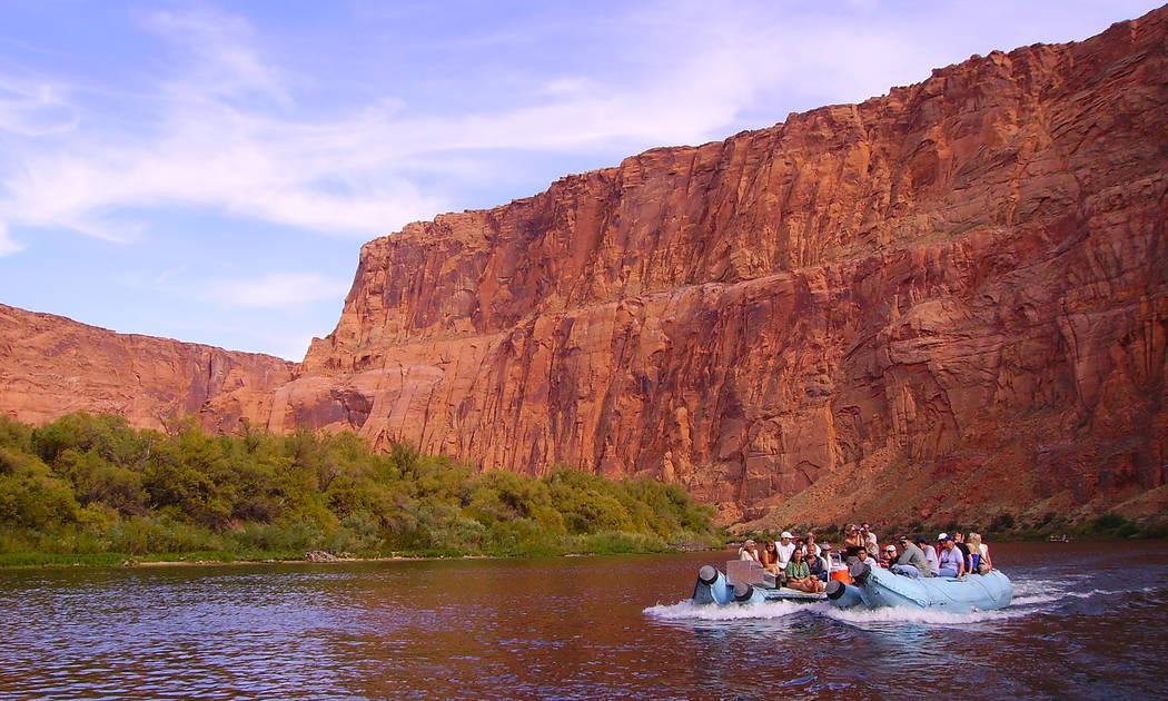 Smooth-water raft trips begin directly below the Glen Canyon Dam near Page, Arizona. (Deborah W ...