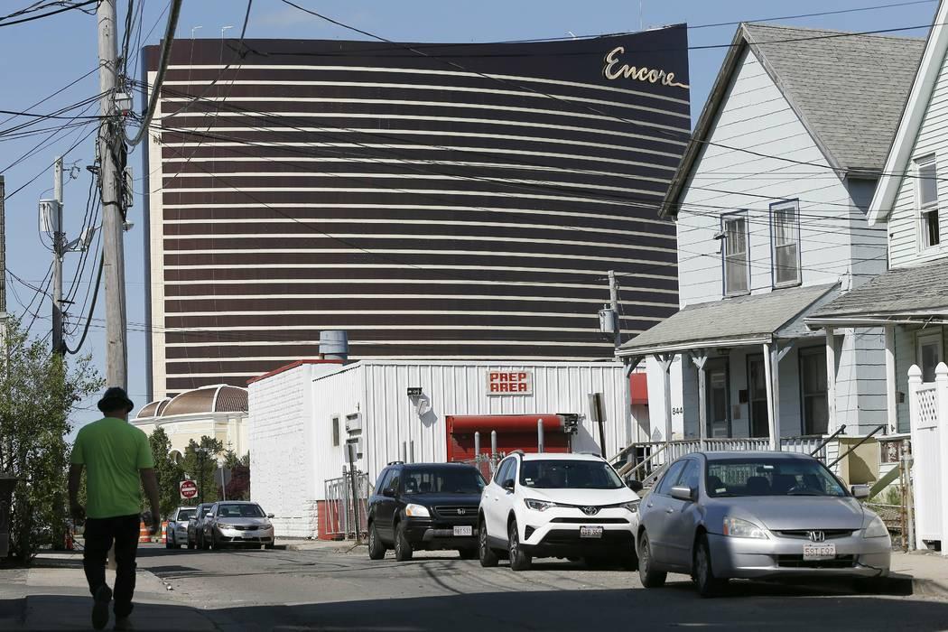 Encore Boston Harbor is seen in Everett, Mass., Wednesday, May 22, 2019. MGM Resorts Internatio ...