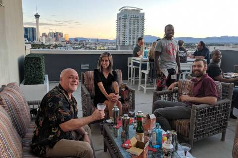 Residents recently enjoyed mixology lessons on the community's Vino Deck, where they learned ...