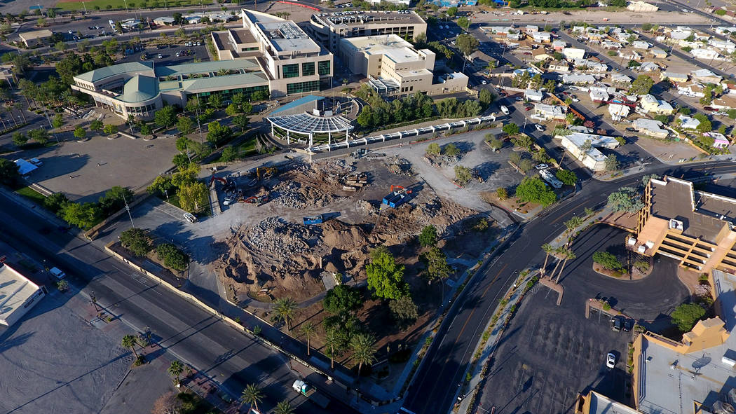 The site of the former Henderson Convention Center, at the corner of South Water Street and Wes ...