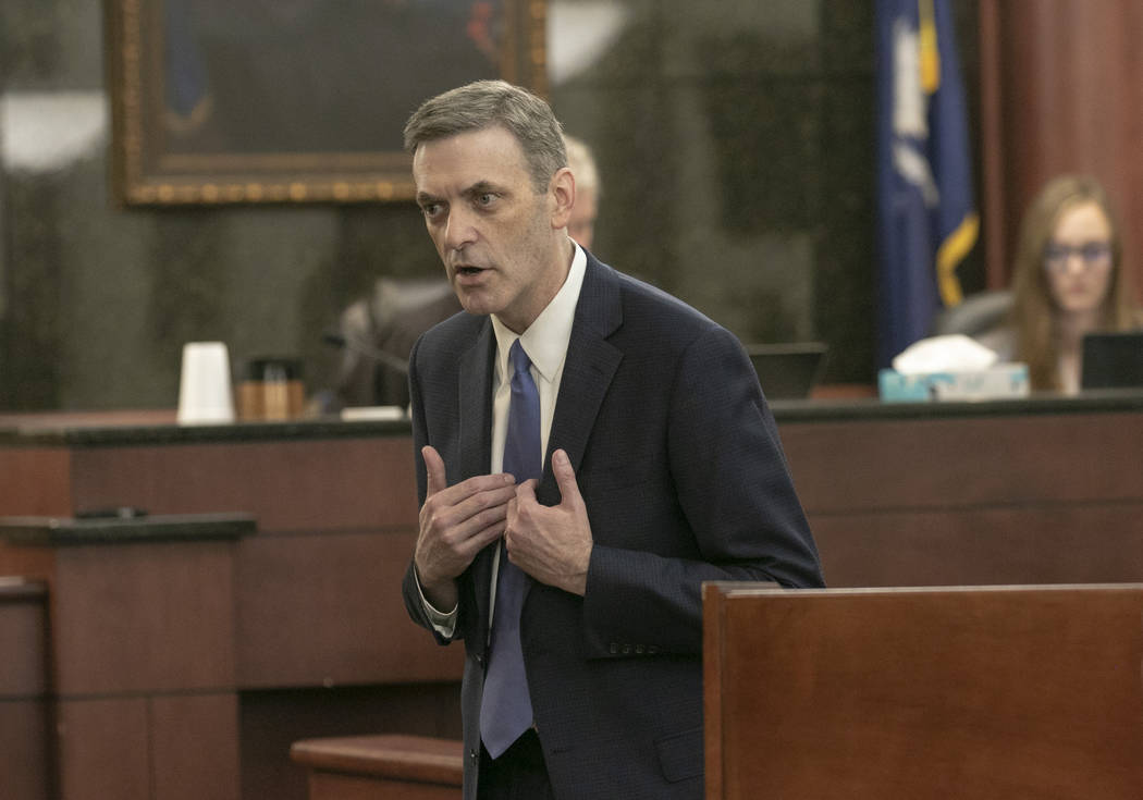Rick Hubbard, 11th Circuit Solicitor, delivers closing arguments, pushing for the death penalt ...