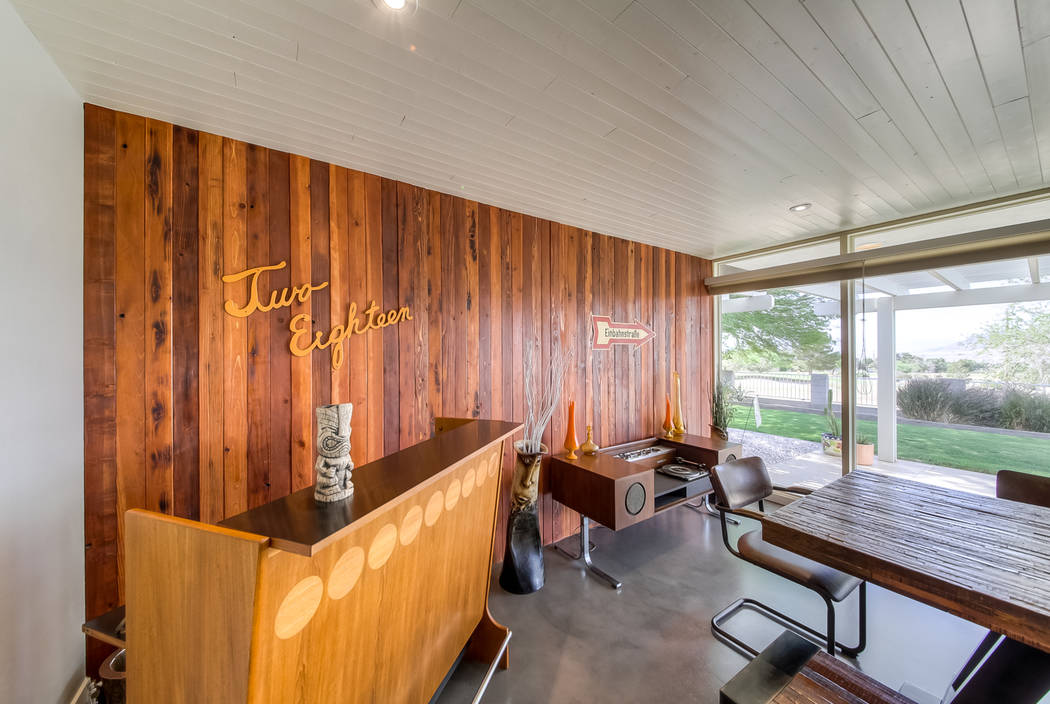 The bar has a retro feel. (Realty One Group)