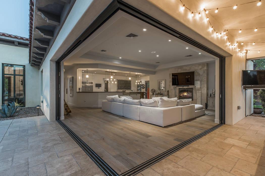 The home has large corner pocket doors. (Ivan Sher Group)
