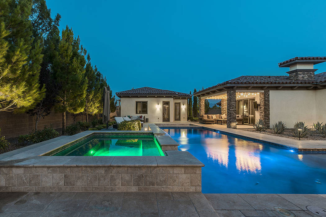 The home has a pool and a spa. (Ivan Sher Group)