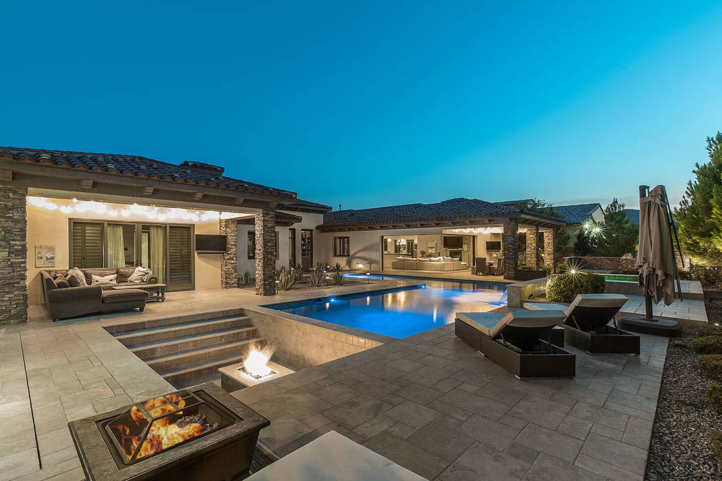 The single-story home, built on a .63-acre lot in 2015, measures 5,285 square feet. (Ivan Sher ...