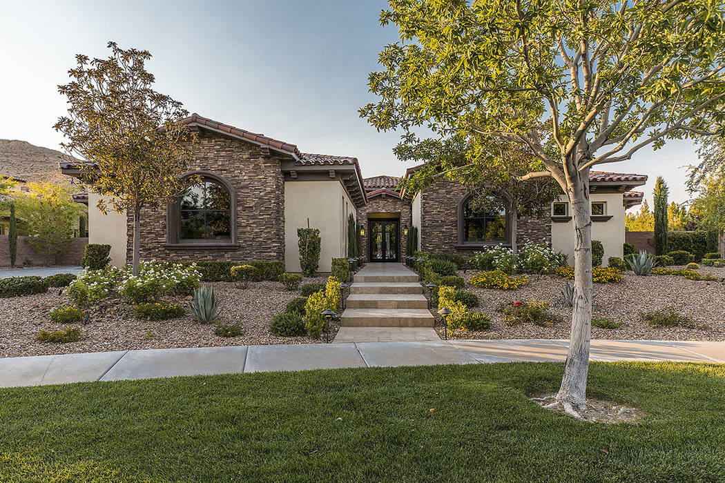 Golden Knights goalie Marc-Andre Fleury, has put his custom Southern Highlands home on the mark ...