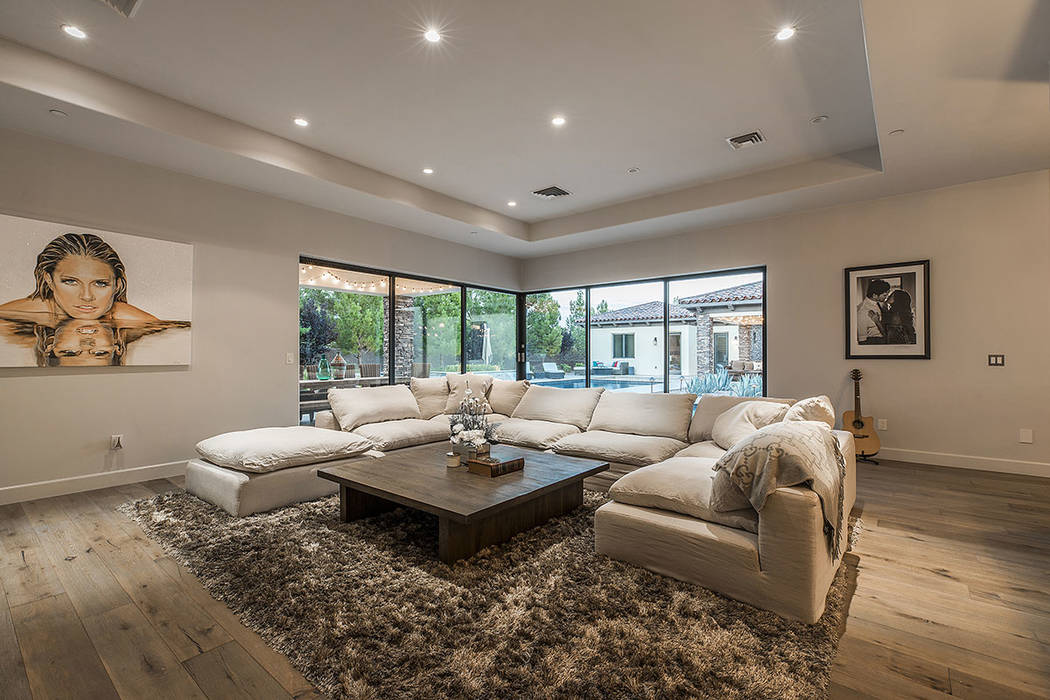The home has an open floor plan and is geared toward indoor-and-outdoor living. (Ivan Sher Group)
