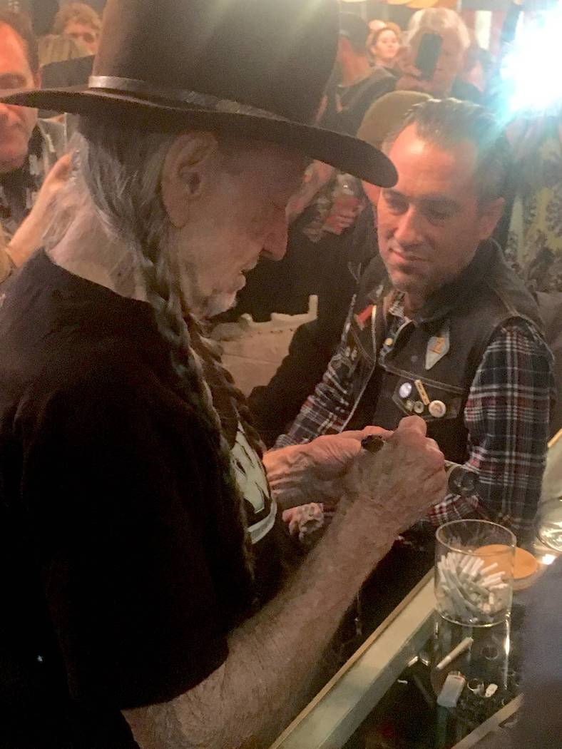 Willie Nelson at Exile on Main Street on Tuesday, Jan. 31, 2017, in Downtown Las Vegas. (Courtesy)