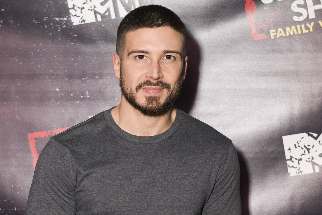 Vinny Guadagnino arrives at the Jersey Shore Family Vacation Premiere Party on Thursday, March ...