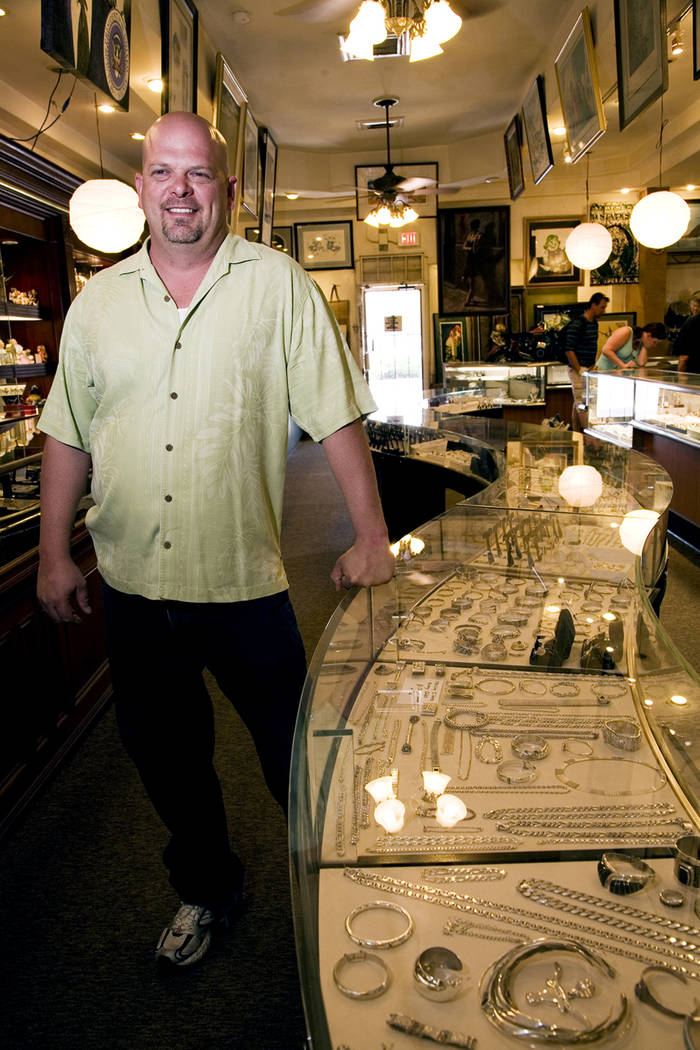 JEFERSON APPLEGATE/BUSINESS PRESS Rick Harrison standing at one of the many jewelry display co ...