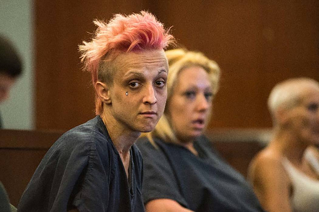 Margarita Balandova, accused in the stabbing death of 84-year-old Mary Leubeck, is seen during ...