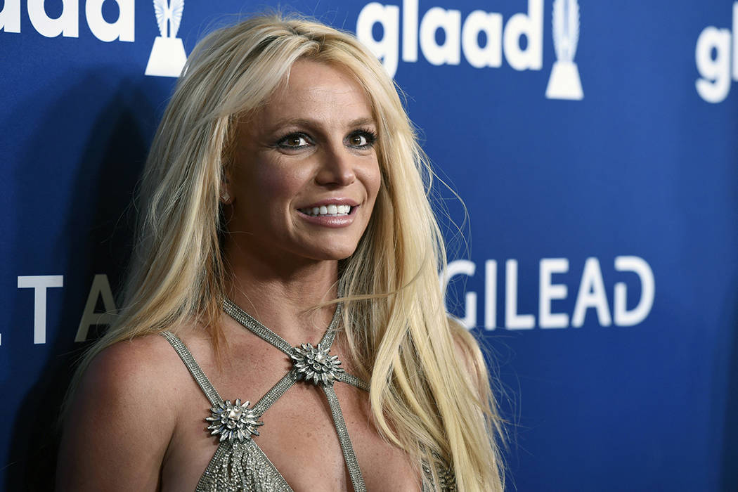 FILE - This April 12, 2018, file photo shows Britney Spears at the 29th annual GLAAD Media Awar ...