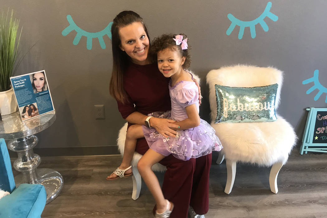 Molly and Layla O'Bryant at A Touch of Lash on June 12. (Rachel Spacek/Las Vegas Review-Journal ...