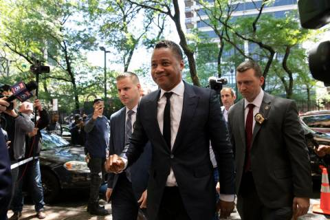 Actor Cuba Gooding Jr. arrives at the New York Police Department's Special Victim's Unit, Thurs ...