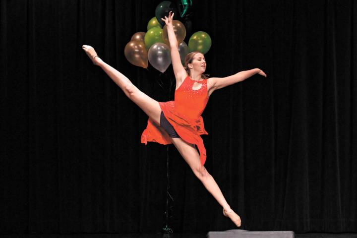 Stephanie Castrignano performing her lyrical solo for the talent portion of the Nevada state Di ...
