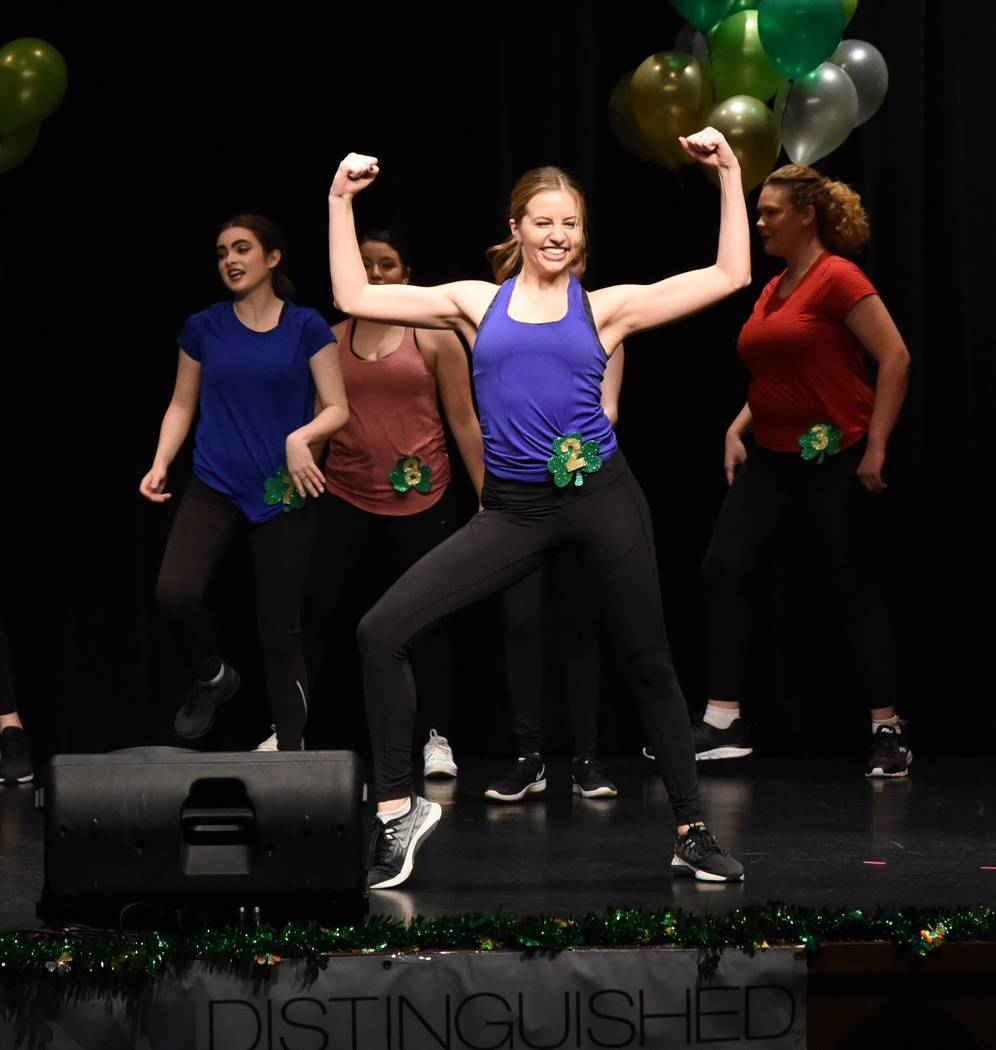 Stephanie Castrignano during the fitness routine at the Nevada state Distinguished Young Women ...