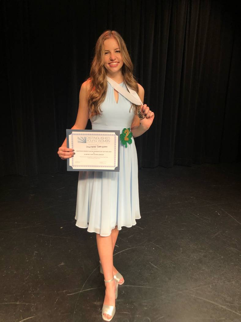 Stephanie Castrignano at the Nevada state Distinguished Young Women competition on March 2. Ste ...