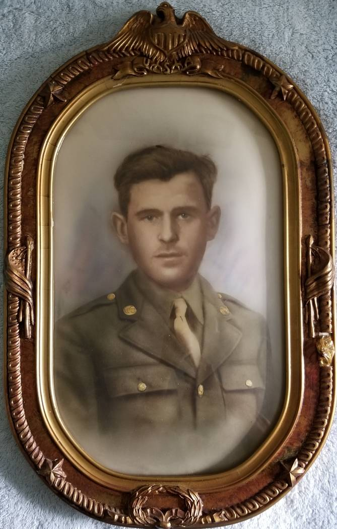 "A photo of the late Army Pvt. Donald Simmons, a close friend of Las Vegas local Onofrio ""No-No"" ..."